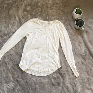 Madewell Long Sleeve White Tee Small